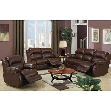 malibu brown bonded leather hardwood living room set