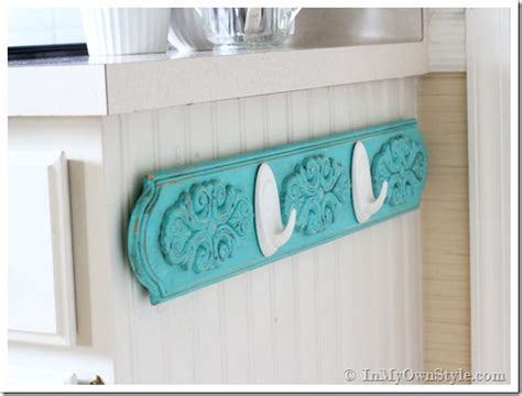 chalk painted kitchen dish towel rack inmyownstyle chalk painted kitchen dish towel rack inmyownstyle