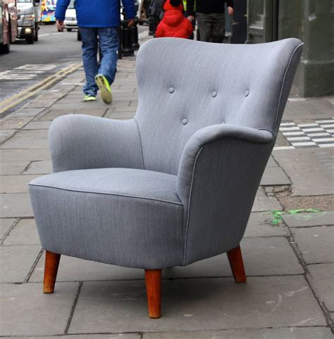 small grey armchair beautiful grey small scale wingback armchair at 1stdibs