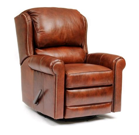 leather recliner swivel 720 leather swivel glider recliner amish oak furniture