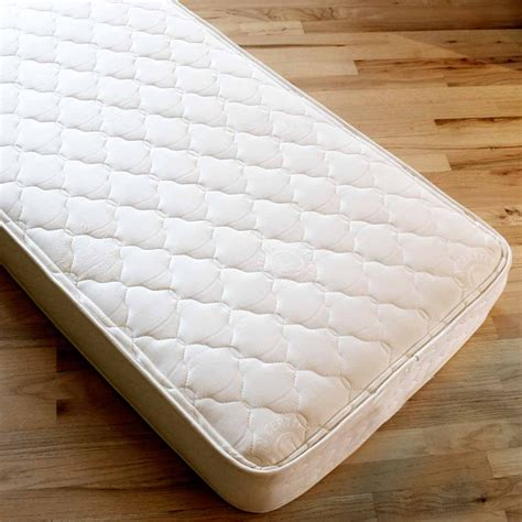 Crib Mattresses by Innerspring Certified Organic Cotton Crib Mattress Lifekind