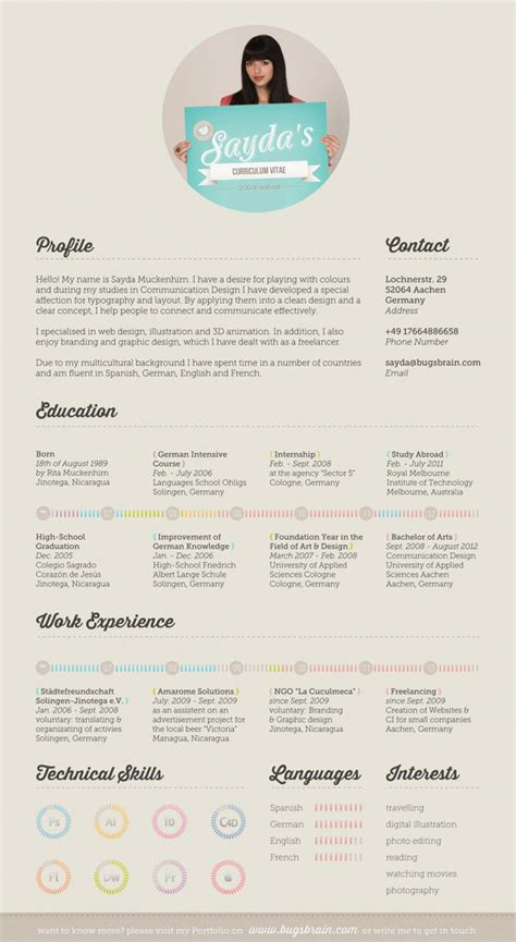 resume template layout design 10 interesting simple resume exles you would love to