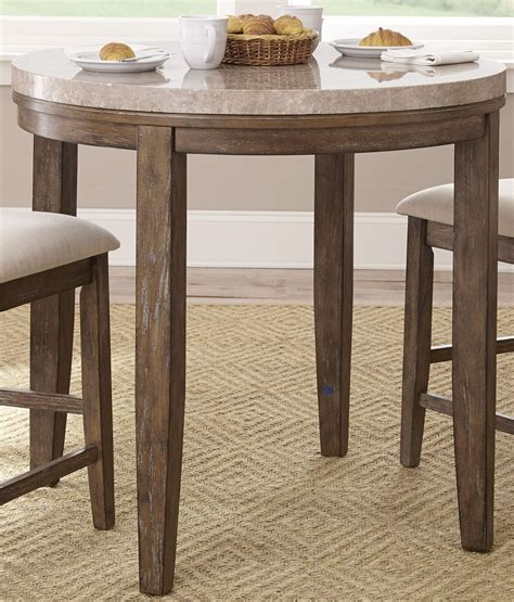 Counter Height Marble Top Dining Table Franco Marble Top Counter Height Dining Table From Steve Silver Fr600wpt Coleman Furniture