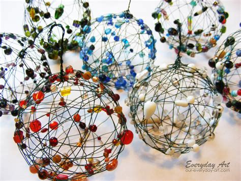 how to make wire and bead balls diy crafts handimania