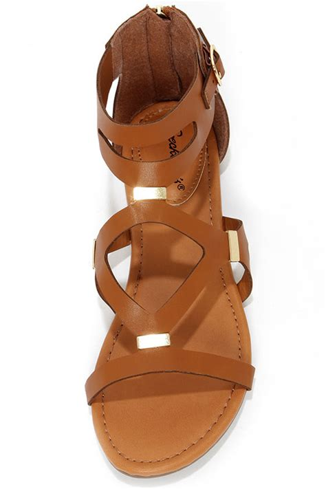 Anneliese Sendal Wedges Wanita Rubby X Brown gladiator sandals brown sandals sandals 22 00