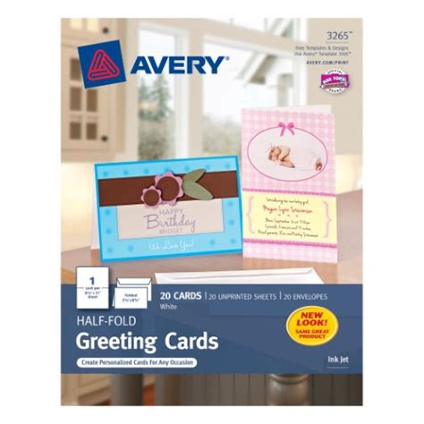 Free Avery Birthday Card Templates by Avery Half Fold Greeting Cards For Inkjet Printers 5 1 2