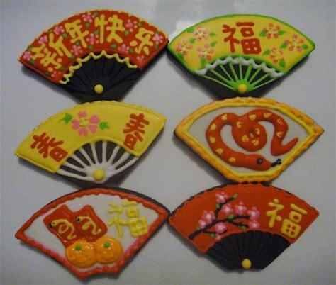 new year ribbon cookies new year fan cookies my decorated cookies