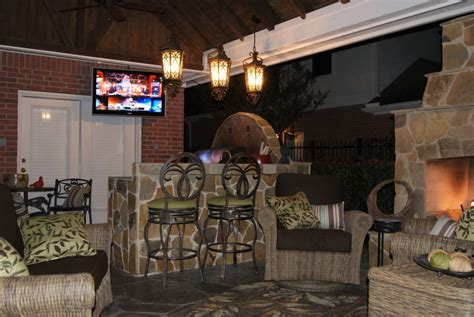 houston outdoor fireplace project fireplaces houston gable roof patio cover with outdoor kitchen fireplace