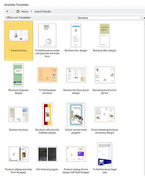 how to create word 2013 brochures