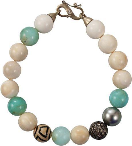 bead wooly p 233 an woolly mammoth bead bracelet in multicolor