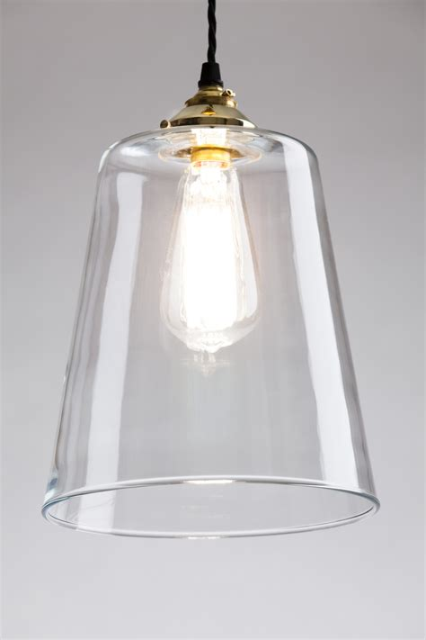 Tapered Blown Glass Pendant Large Blown Glass Light Pendant