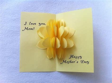 diy beautiful pop up flower card diy mother s day card diy pop up cards for mother s day larissanaestrada com