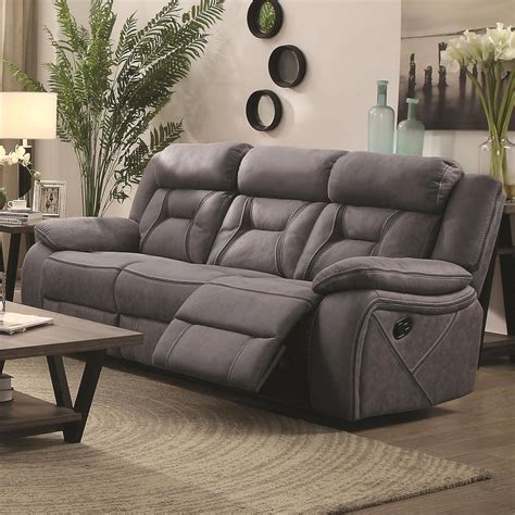 houston casual pillow padded reclining sofa  contrast