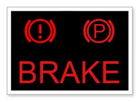 Brake Light Goes On And by Brake Hydraulic System Warning Light