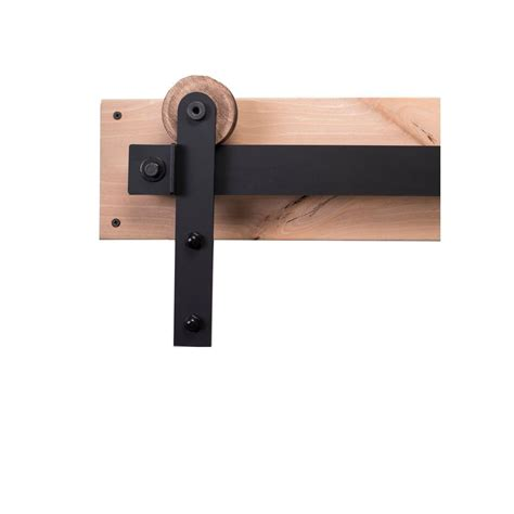 Sliding Barn Door Hardware Kit Rustica Hardware 84 In Flat Black Sliding Barn Door Hardware Kit With Modern Hangers And Falcon