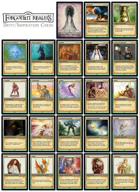 Pathfinder Item Card Template by Forgotten Realms D D 5e Inspiration Cards Forgotten