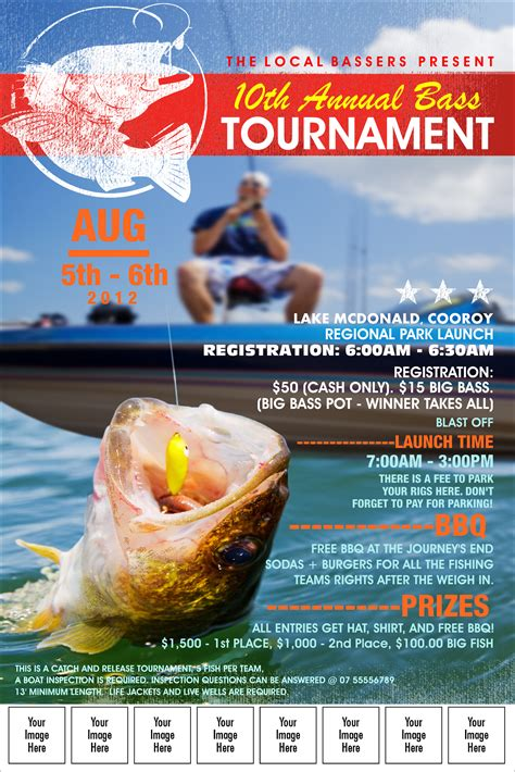 fishing tournament flyer template bass fishing tournament image poster