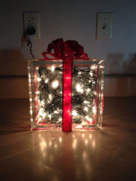 glass block decoration christmas pinterest