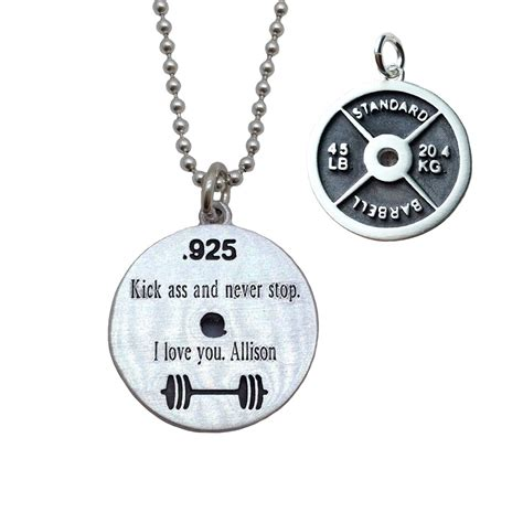 weight plate necklace iron strong jewelry