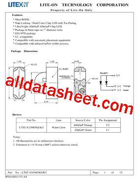326 transistor datasheet ltst s326kfkgkt datasheet pdf lite on technology