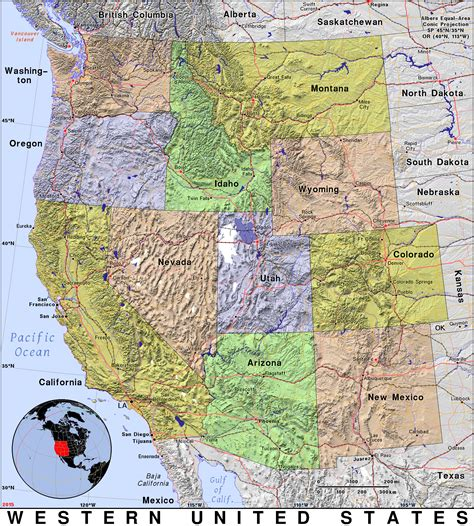 map of western states usa western united states 183 domain maps by pat the