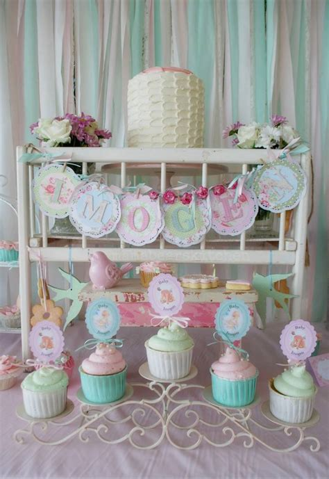 kara s party ideas shabby chic pink and mint baby shower via kara s party ideas cake decor