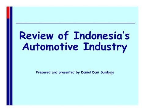 Review of Indonesia's Automotive Market Review by Daniel