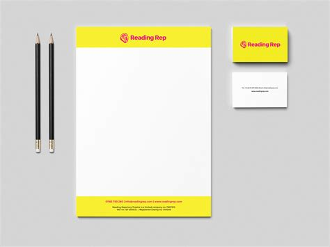 business letterhead behance reading rep theatre letterhead and business cards on behance