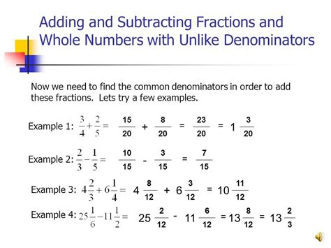 Adding And Subtracting Mixed Numbers With Unlike Denominators Worksheets by Brought To You By Tutorial Services The Math Center