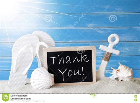Thank You Letter Vacation Summer Card With Thank You Stock Image Image 70905635