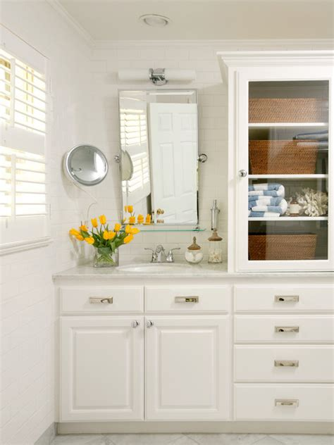 glass front bathroom cabinet glass front cabinets cottage bathroom tobi fairley