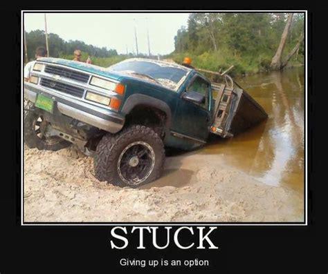 jeep stuck in mud meme car humor joke road drive driver stuck truck
