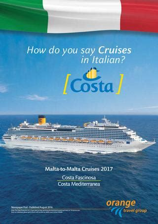 how do you say in italian costa malta to malta cruises 2017 by smsmondial issuu