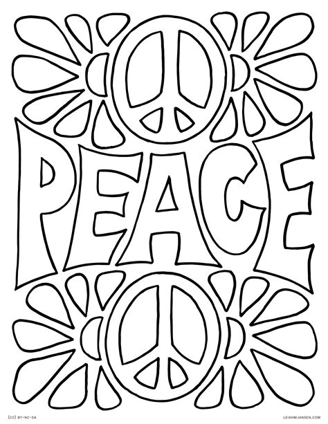 peace colors coloring pages