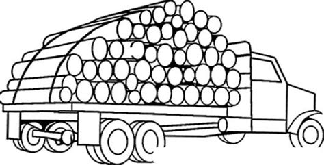 imagenes para dibujar en madera camion de troncos de madera para pintar y colorear