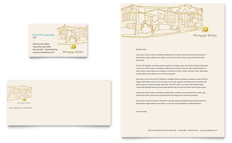 Mortgage Broker Letter Templates Mortgage Broker Business Card Letterhead Template Design