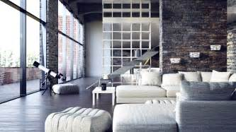 Modern Living Room Loft Modern City Loft 6 Interior Design Ideas