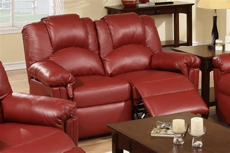 red loveseat recliner red leather reclining loveseat steal a sofa furniture