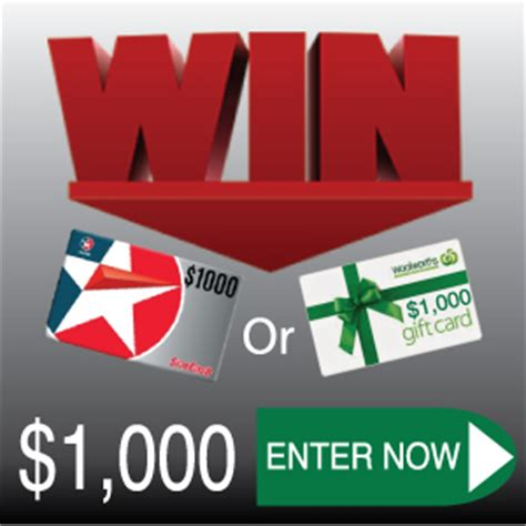 Caltex Woolworths Gift Card - win 1 000 woolworths gift card or 1 000 caltex gift card australian competitions