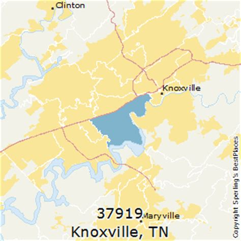 zip code map knox county tn best places to live in knoxville zip 37919 tennessee