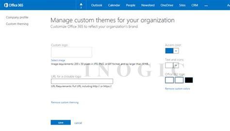 Office 365 Portal Customization 3
