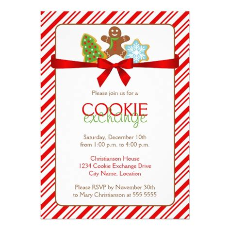 Cookie Exchange Party Invitation Zazzle Com Cookie Invitations Templates