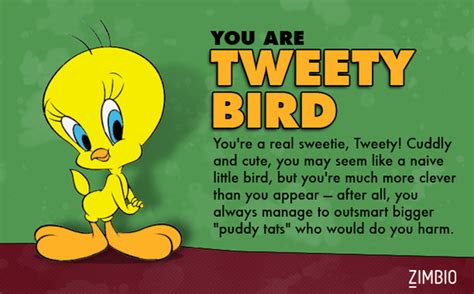 tweety bird which looney tunes character are you zimbio