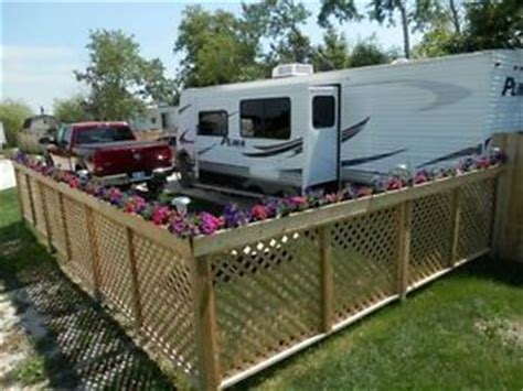 rv fence seasonal rv cing fencing cing survival travel trailers and cers