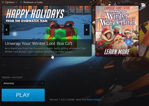 Can You Buy Overwatch With Battle Net Gift Cards - 5 free lootboxes for everyone merry christmas rebrn com