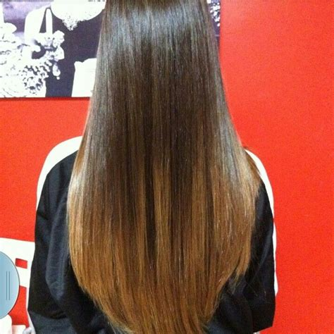 hair straight but tucked under at the ends straight ombre hair want pinterest my hair style