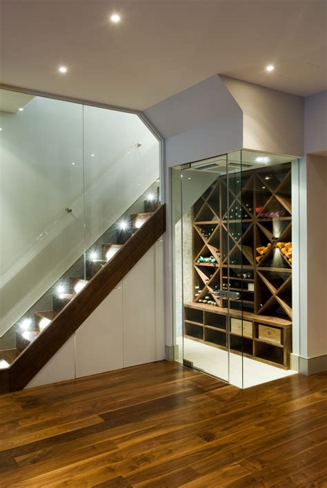 splashy marvel wine cooler in wine cellar contemporary
