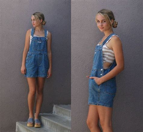 Dress Denim Yana Set 90 s levi s s m vintage womens overalls shorts denim jean