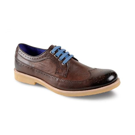 falcon brown leather lace shoe