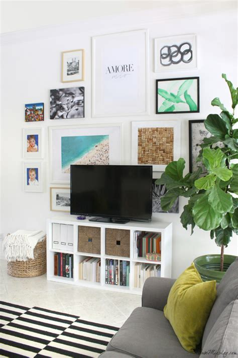 living room gallery wall gallery wall tv in living room house mix